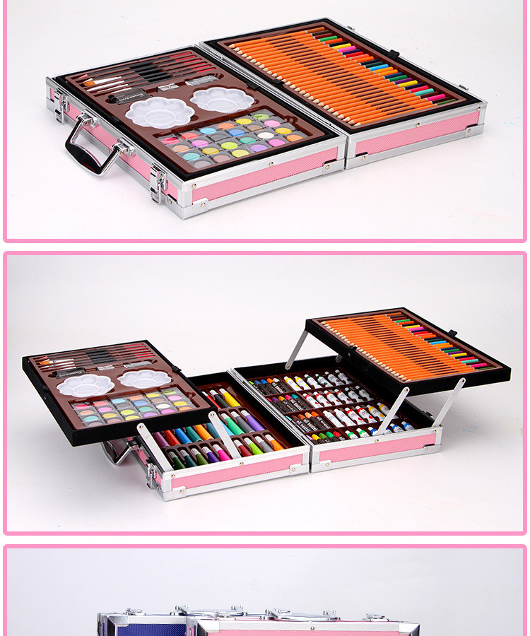 Sept Crazy Sales Deluxe Double Aluminum Box Professional Painting Art Creative Set