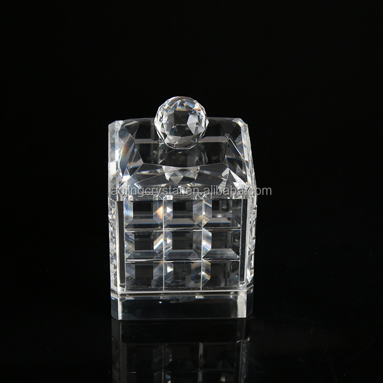 New arrival transparent crystal Glass Jewelry Display Case Box
