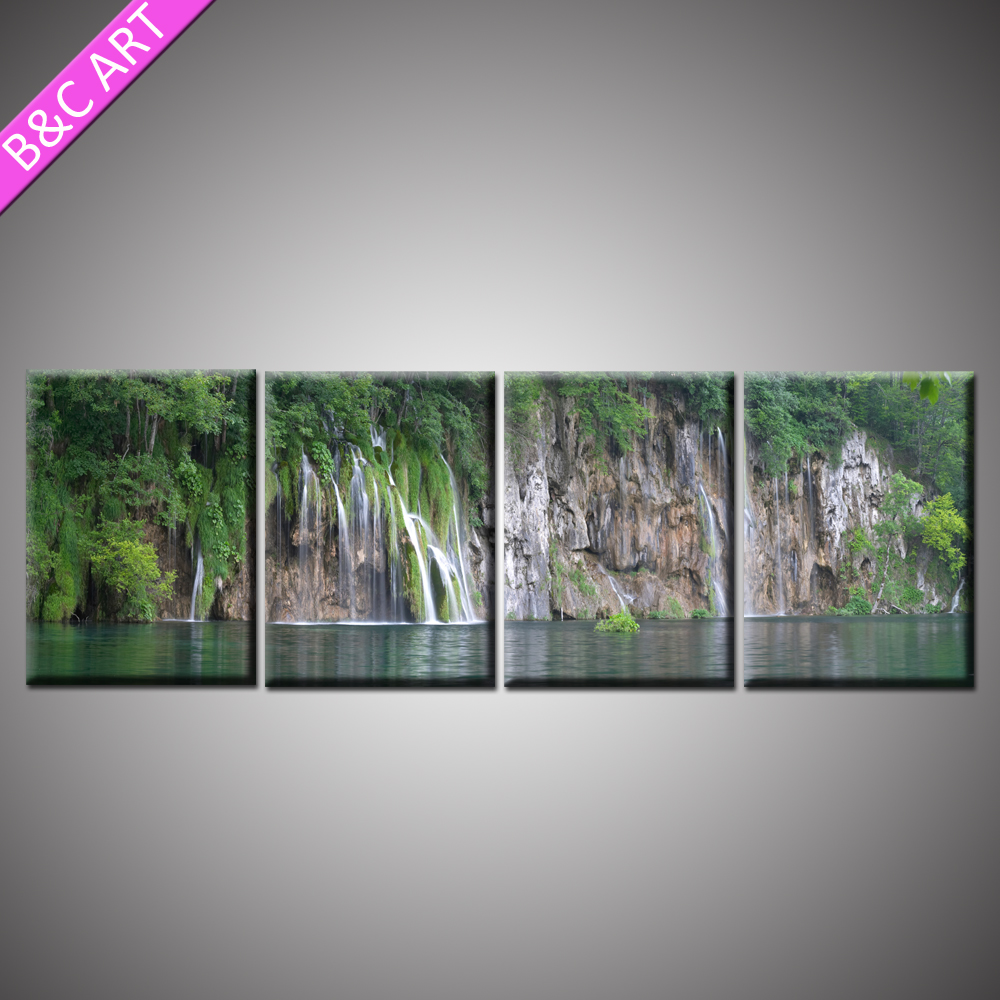 Modern chinese wall art painting landscape rake printed canvases