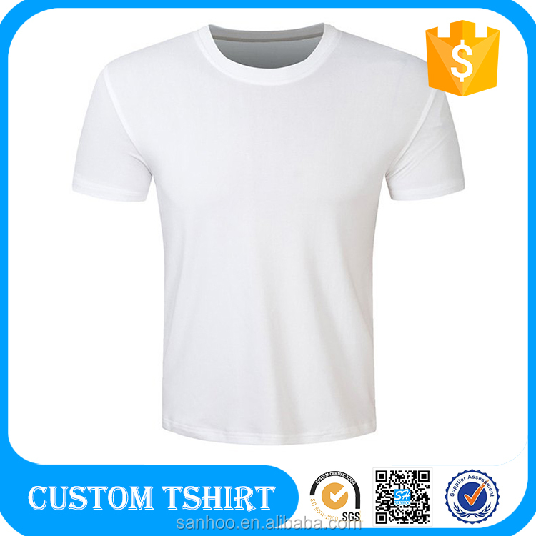 Pure Plain White Tshirts Men Underwear 100% Combed Cotton Soft And Comfortable Wear