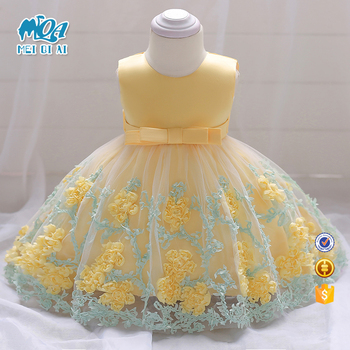 a0264b59297c Hot Selling Pretty Baby Frock 12 Month 1 Year Old Girl Clothes First ...