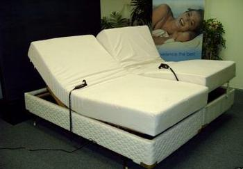 king size dual adjustable bed u0026 memory foam mattress