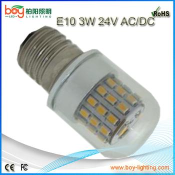 360 graus e10 conduziu a lâmpada lâmpada de 12 v 24 v e10 3 w - buy