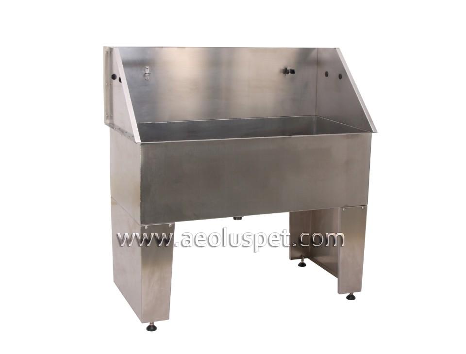 BTS 136 Economical Stainless Steel Dog Bath Standing Pet Grooming Bathtub