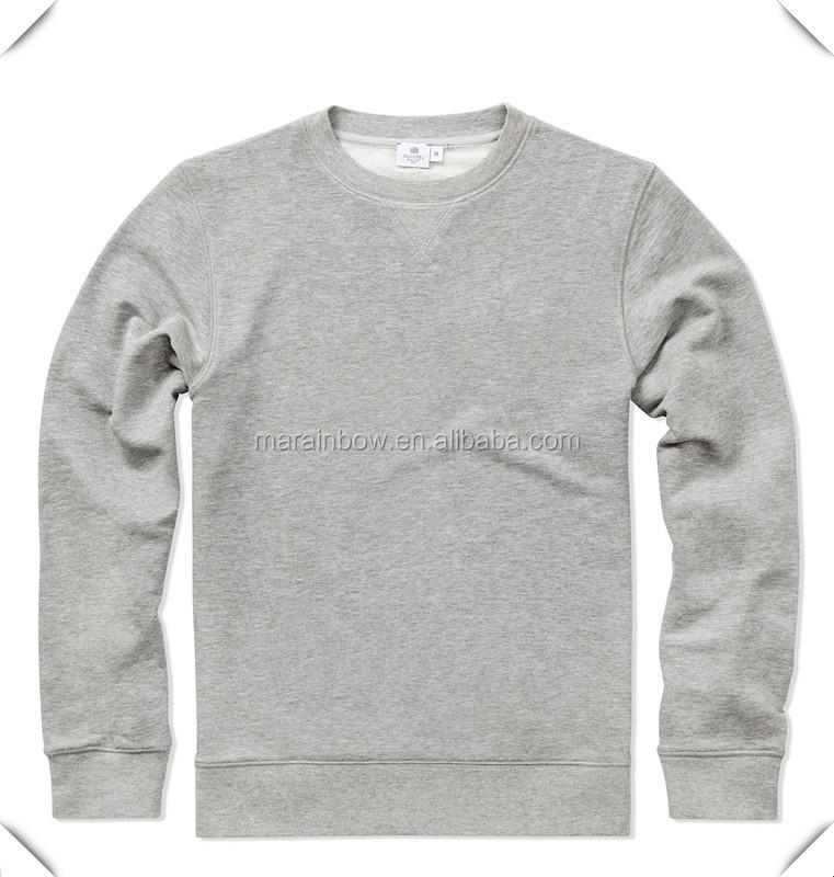 Navy Blue Cotton Fleece Mens Plain Jumpers,Custom Made Grey ...