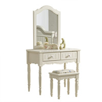 french style wood vanity set dresser with mirror