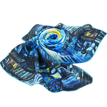 top end custom digital print 100% twill silk scarf
