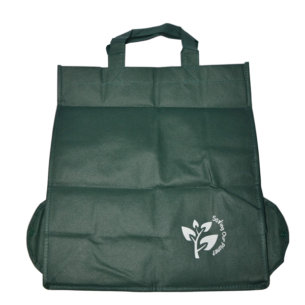 80g green non woven folding cheap <strong>Eco</strong>- friendly recycle bag with logo
