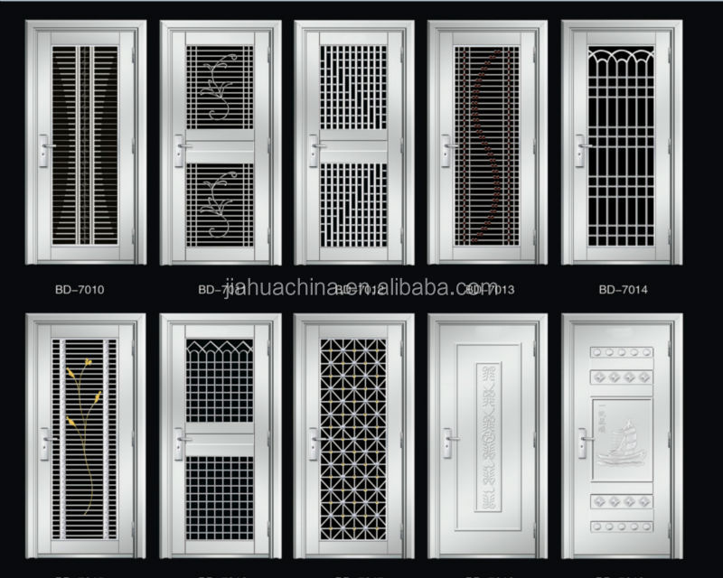 Burglar proof stainless steel security doors indian doors for Door design steel