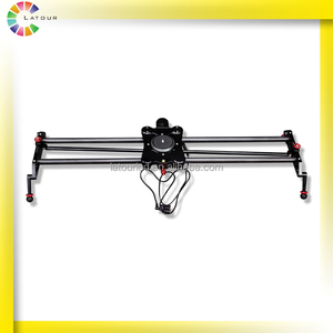 Factory sale 80cm carbon fiber motorized camera slider with following focus and pan shooting function camera slider dolly