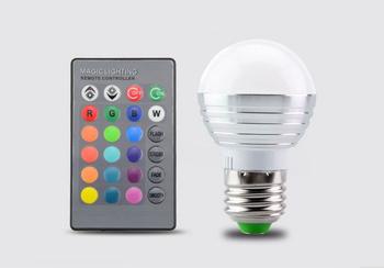 Rgb Led Lamp : Smart remote control dimming colorful rgb led lamp bluetooth