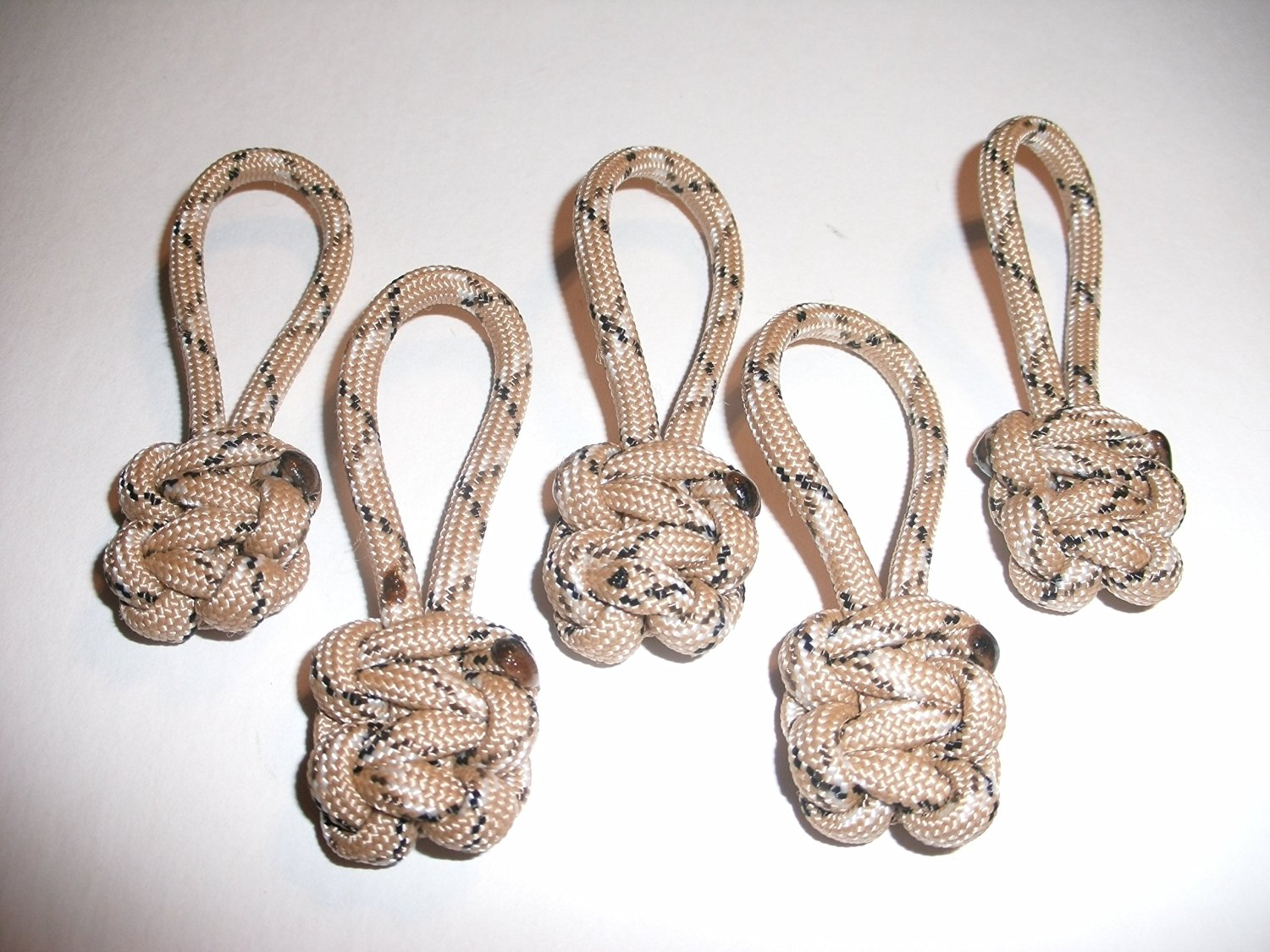 RedVex Paracord Zipper Pulls / Lanyards - Lot of 5 - ~2.5 - Desert Camo