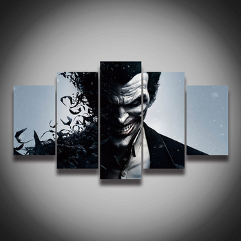 High Quality Printed Picture Joker Painting On Canvas 5 Panels Set For Wall Decoration Canvas Art Print Posters Buy Natural Art Painting High
