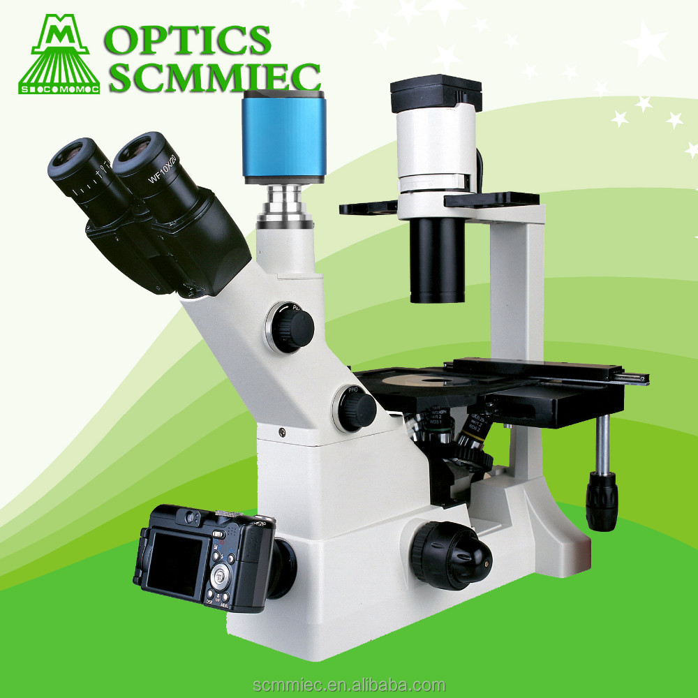 Inverted Trinocular Biological Microscope/ Trinocular Microscope with Camera SC202