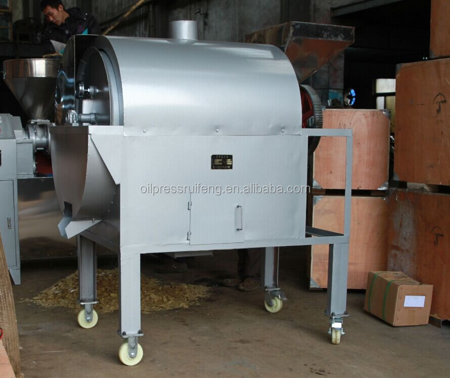High efficiency chestnut roaster cooking oil processing machine peanut roaster machine