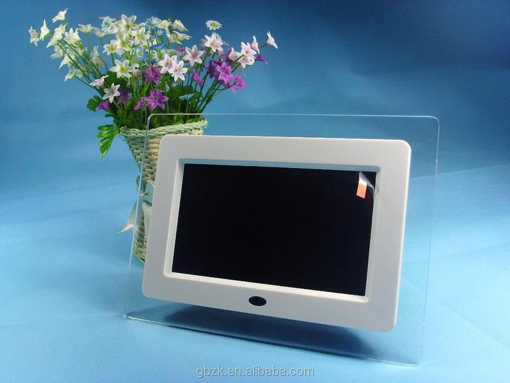 7 inch open frame battery operated digital photo frame digital frame bulk digital photo