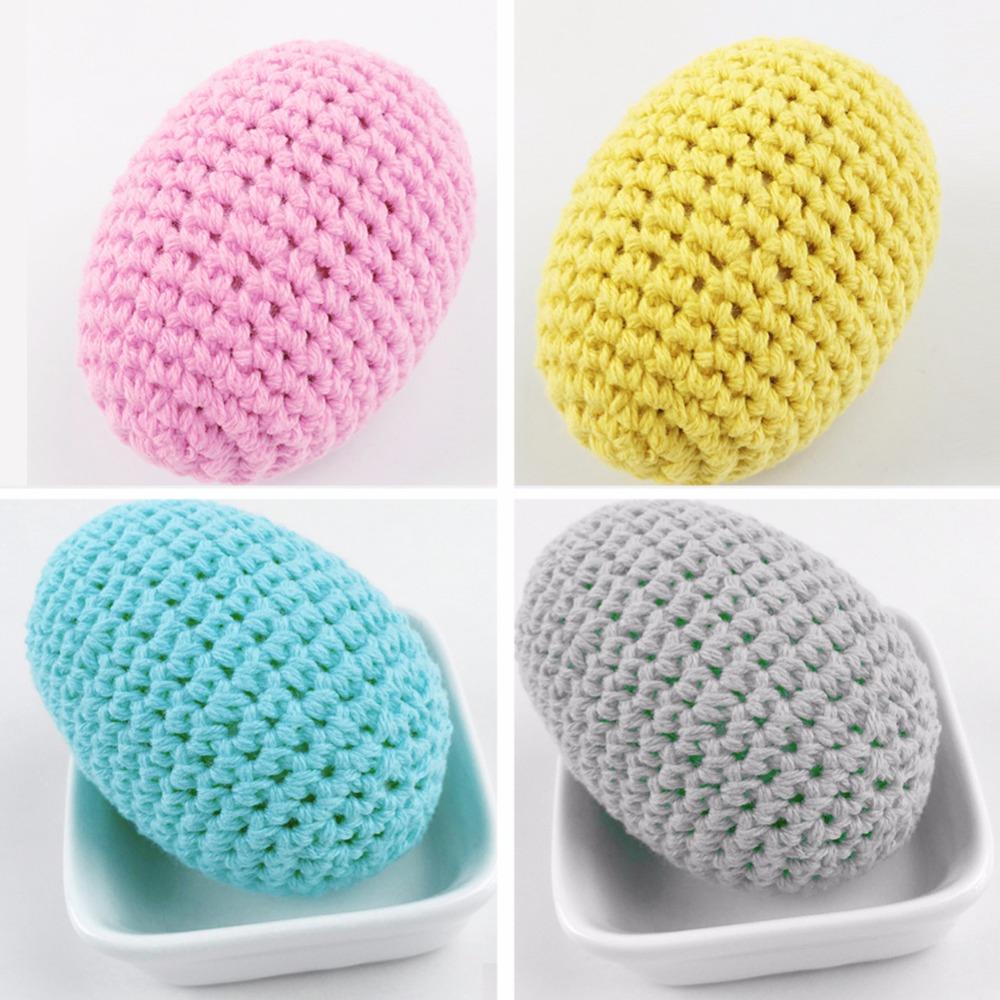 Easter Crochet egg home Gift Baby Toy Infant Gift eggs Decoration Easter decoration  2 color Mix Egg Cozy  Crochet Beads