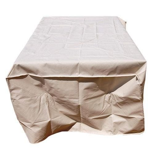 "MM TECH Garden furniture cover (130""* 86""* 41""), beige taupe color-heavy duty 600D - 100% waterproof with double inside and outside coating- UV protection - for large table and multi furniture"