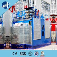 Safety passenger and material hoist ,double cage passenger hoist(1000kg-2000kg)