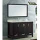 floor mounted rectangle shape brown paint bathroom furniture vanity