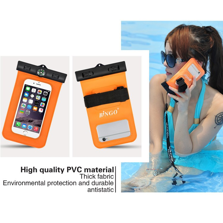 Factory Price PVC Mobile Waterproof Carring Bags Cover brand cell phones accessories