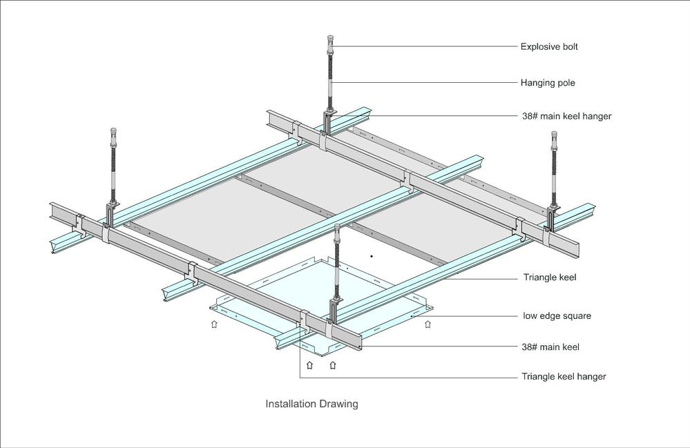 Metal false ceiling details hbm blog for Suspension metal