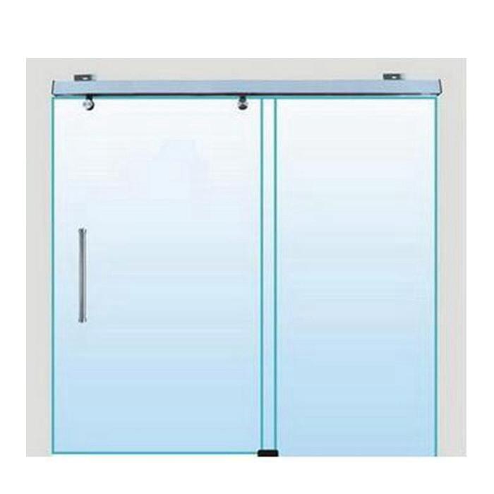 cierre suave exterior sin marco puerta corredera de cristal accesorios