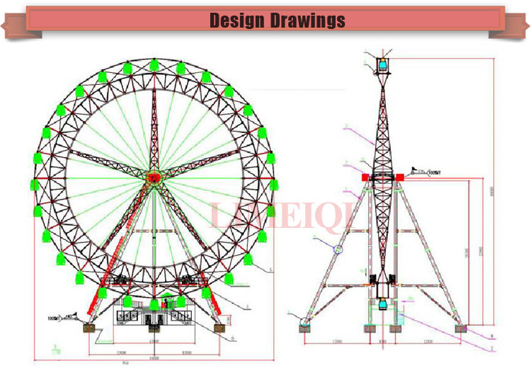Top fun amusement park amusement ride ferris wheel on good view