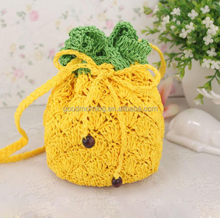Cute Pineapple Crochet Pattern Novelty Fruit Straw Bag Buy