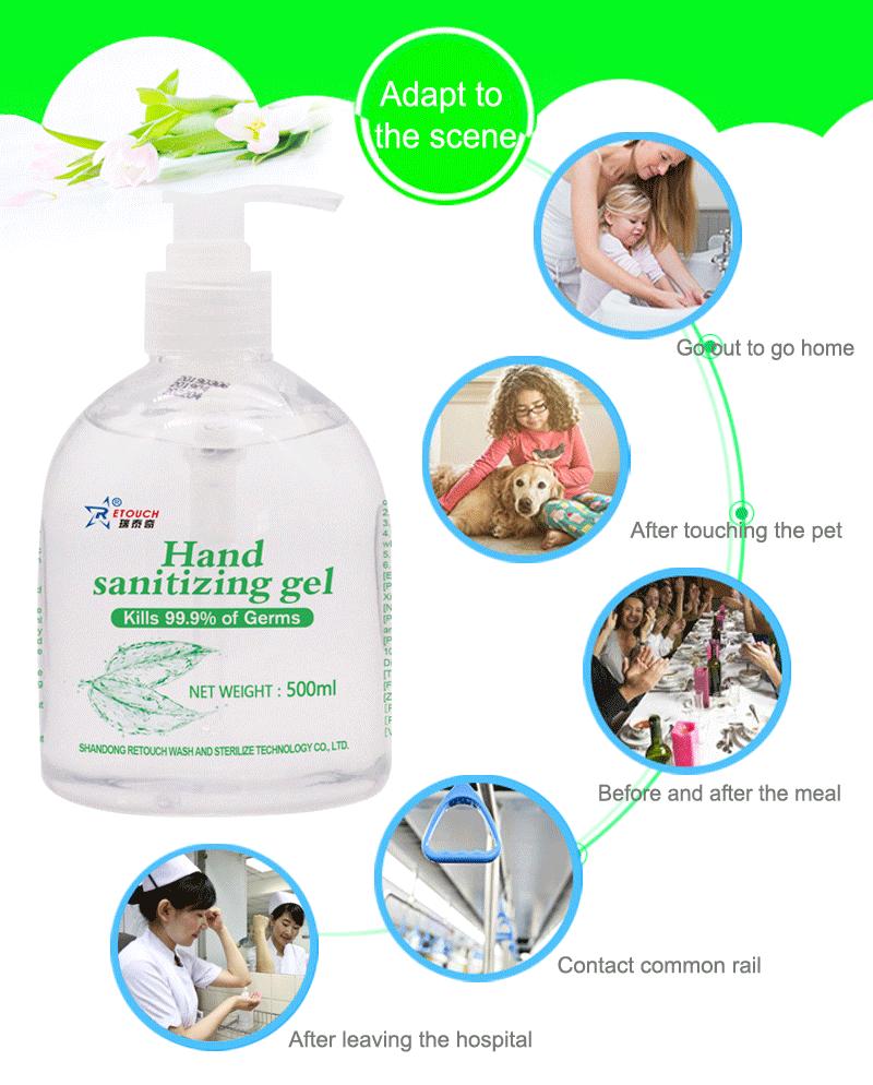 Commercio all'ingrosso su misura di Alcol disinfettante per le mani la clorexidina lavaggio a mano