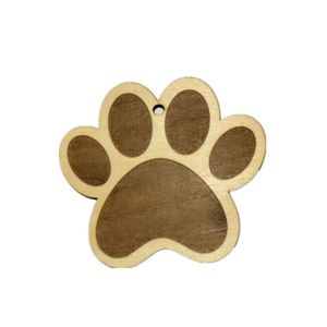pet Paw Print Wood Holiday Ornament