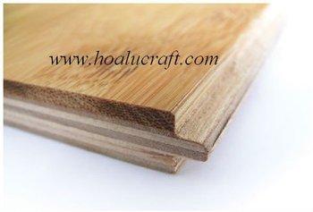 Engineered Horizontal Bamboo Flooring 14mm Tongue Groove Profile