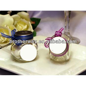 wedding mini glass candy jar favors empty mini glass jar for sale