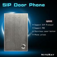 Low cost voip sip phone door intercom system can control the door