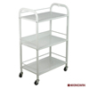 Factory Wholesale Durable Glass Cart with 3 shelves