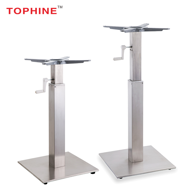 Commercial Contract TOPHINE Furniture Adjustable Height Stainless Steel Telescopic Table Legs