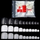 500 Pcs/pack Fake Artificial Acrylic False Toe Nail Tips Natural White Transparent Wide Toenails Foot Manicure For Beauty Nail