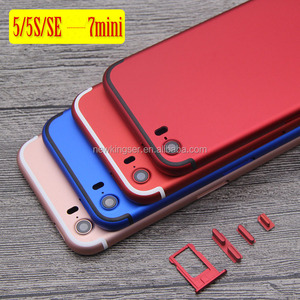 Replacement battery Door Back Cover For iPhone 5S like 7 mini Style Back Housing