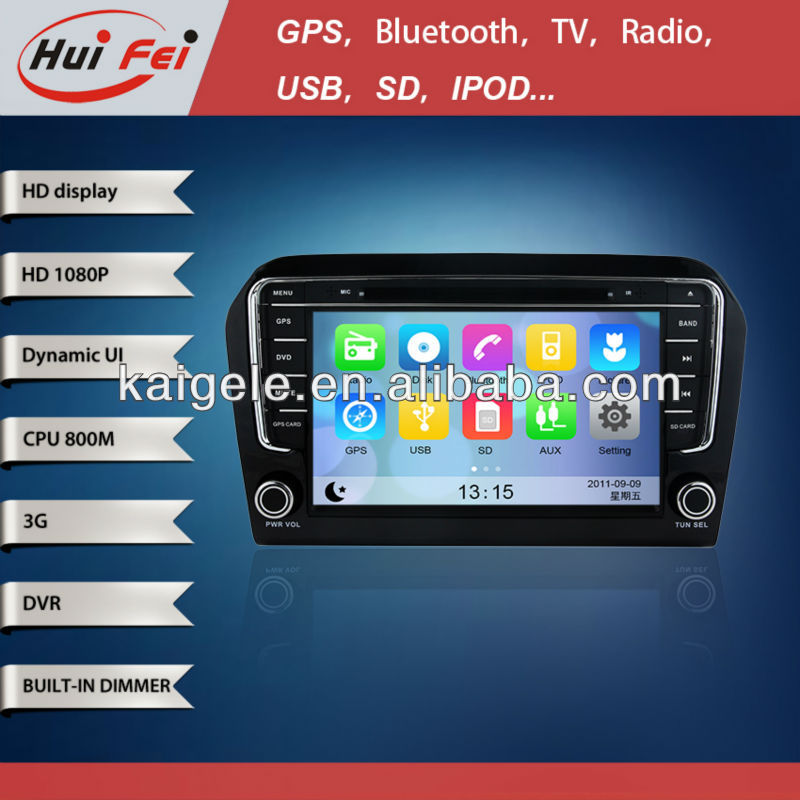 huifei car Dvd with gps navigation for VW VOLKSWAGEN New Jetta 2013 IPHONE and IPOD with Lighting Pork