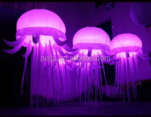 Attractive advertising helium flying inflatable led jellyfish lights /inflatable Jellyfish balloon for party decoration