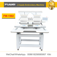 Fuwei 2 heads flat computerized embroidery machine price for ricoma embroidery machines