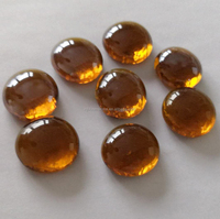 decorative crystal amber glass beads for swimming pool