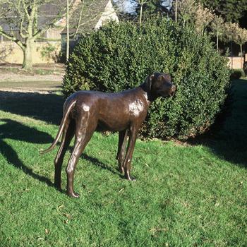 Outdoor Garden Decoration Metal Craft Bronze Great Danes Statue