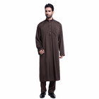 Factory outlet islamic abaya high quality man robe europe solid color loose thobe 2019 new man clothing