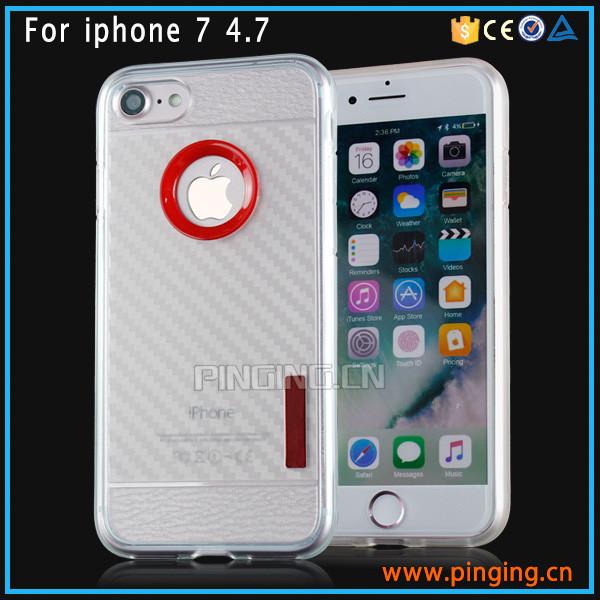 Personalizado Carbono Fibra Nombre Cristal Funda Carcasa IPHONE 7