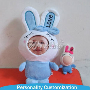 New Arrive Good Quality 6-18cm Interesting Diy 3d Photo Face Plush Soft Doll