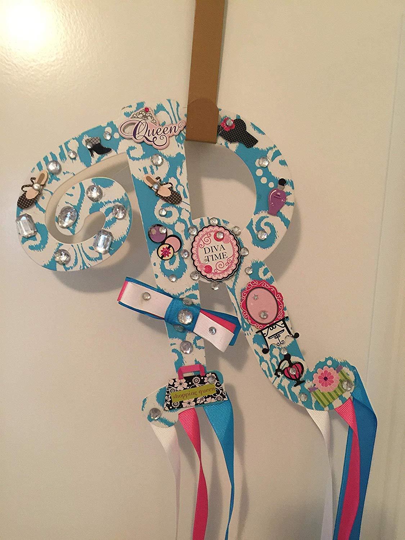 Custom Handmade Metal Letter R Hair Bow Holder, Organizer, Jewelry Ear Ring  Holder,