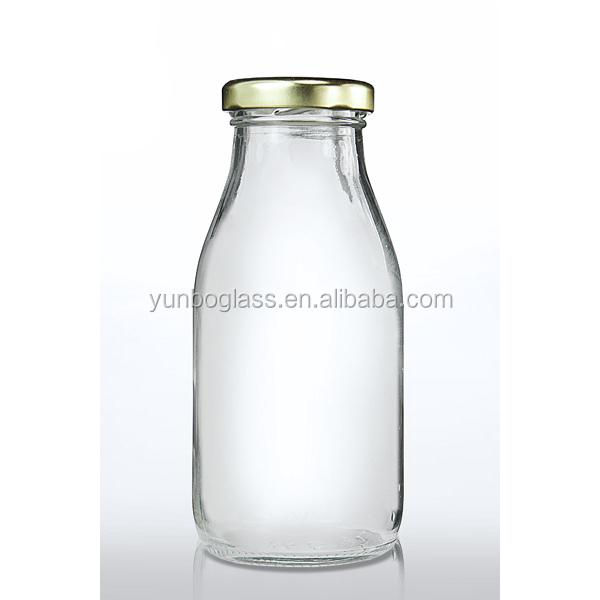 Botella De Leche De Alta Calidad 250 Ml De Jugo De Vidrio