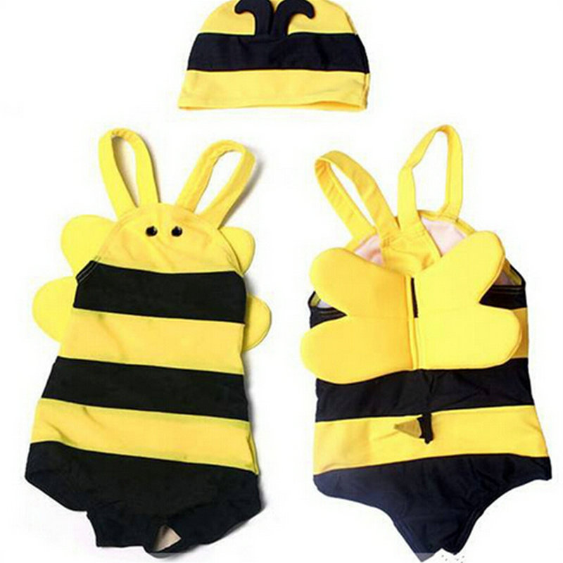 2 7Year Cute Korean 3D Bee Designer Boys Swimwear Rash