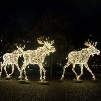 outdoor lighted christmas sculpture lights reindeer moose led for lawn decoration ip65 - Lighted Deer Christmas Lawn Ornaments